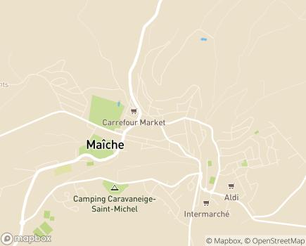 Localisation Résidence pour Personnes Agées Les Vergers de Montjoie - 25120 - Maîche