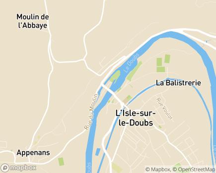 Localisation EHPAD Docteur Gérard - 25250 - L'Isle-sur-le-Doubs