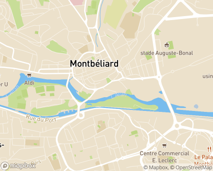 Localisation EHPAD Résidence Surleau - 25200 - Montbéliard