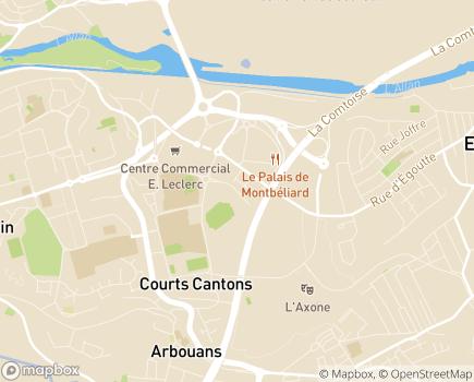 Localisation Age d'Or Services - 25200 - Montbéliard