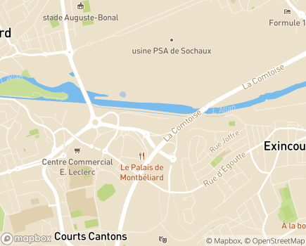 Localisation Azaé Montbéliard / Maiche - 25200 - Montbéliard
