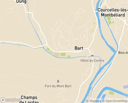Localisation EHPAD Le Chant de L'Eau - 25420 - Bart
