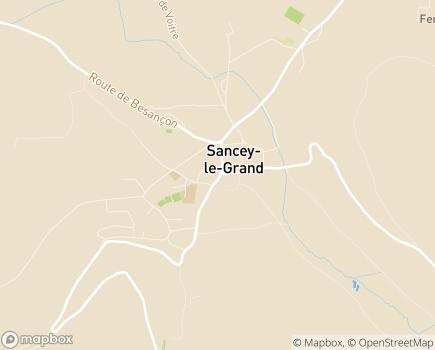 Localisation EHPAD Les Tourelles MFD-SSAM - 25430 - Sancey-le-Grand
