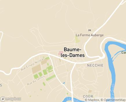 Localisation USLD du Centre Hospitalier de Baume les Dames - 25110 - Baume-les-Dames