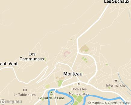 Localisation USLD Paul Nappez Morteau - 25500 - Morteau