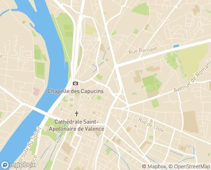 Localisation Conseil Départemental de la Drôme - 26026 - Valence