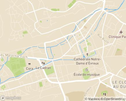Localisation Délégation Sociale de l'Eure - 27021 - Évreux