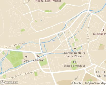 Localisation ARS de Normandie Délégation Départementale de l'Eure - 27023 - Évreux