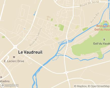 Localisation EHPAD Les Rivalières - 27100 - Le Vaudreuil