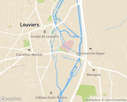 Localisation EHPAD Résidence Les Rives Saint-Taurin - 27406 - Louviers