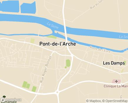 Localisation EHPAD de L 'Arche - 27340 - Pont-de-l'Arche
