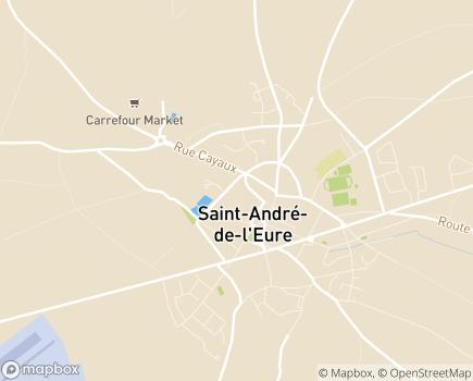 Localisation Maison de Retraite Résidence Le Bois la Rose - 27220 - Saint-André-de-l'Eure