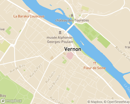 Localisation Korian Nymphéas Bleus - 27200 - Vernon