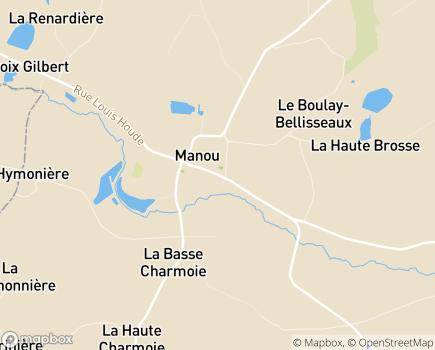 Localisation Dame de Manou - 28240 - Manou