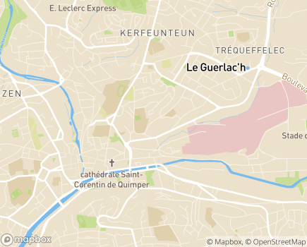 Localisation Centre Départemental d'Action Sociale CDAS de Quimper - 29000 - Quimper