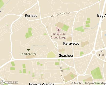 Localisation Domitys Les Houblons - Résidence avec Services - 29200 - Brest