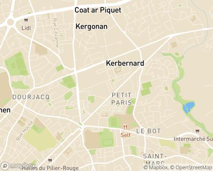 Localisation Les Jardins d'Avalon - Résidence avec Services - 29200 - Brest