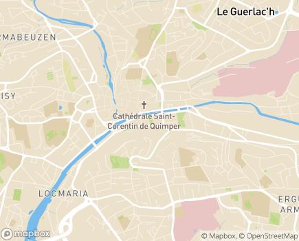 Localisation Conseil Départemental du Finistère - 29196 - Quimper