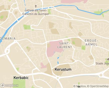 Localisation Centre Hospitalier de Cornouaille Quimper - Concarneau - 29107 - Quimper