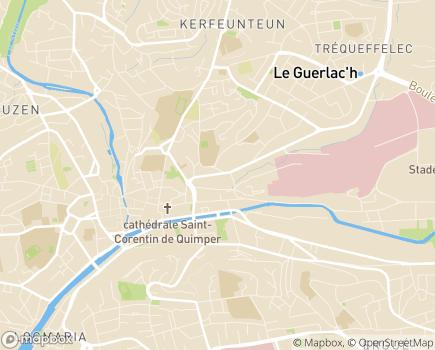 Localisation Clinique Saint-Michel et Sainte-Anne - 29196 - Quimper