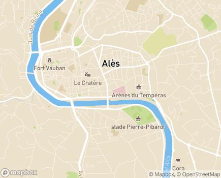 Localisation Résidence Services Les Jardins de Trelis - 30100 - Alès