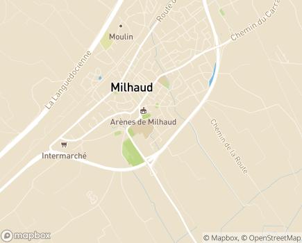 Localisation EHPAD Résidence Les Jardins Médicis - 30540 - Milhaud