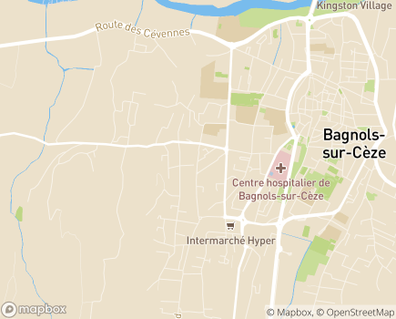 Localisation Unité d'Hospitalisation à Domicile - 30200 - Bagnols-sur-Cèze