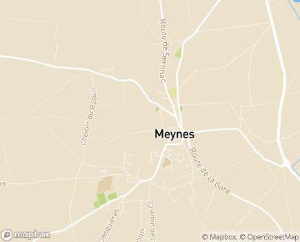 Localisation EHPAD Sophia la Capitelle - 30840 - Meynes