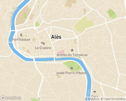 Localisation Nouvelle Clinique Bonnefon - 30100 - Alès