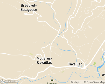 Localisation Centre de Soins de Suite Les Châtaigniers - 30120 - Molières-Cavaillac