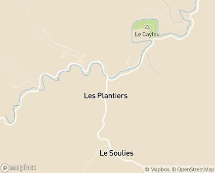 Localisation Résidence Les Jardins EHPA - 30122 - Les Plantiers