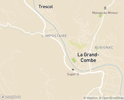 Localisation Maison de Santé La Pomarède - 30110 - Les Salles-du-Gardon