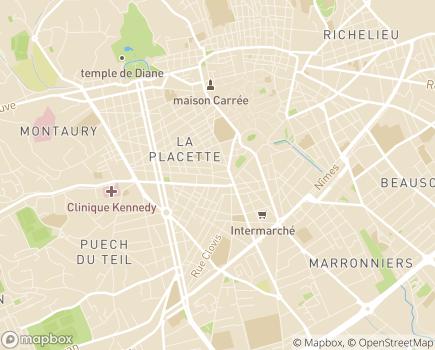 Localisation ARS Agence régionale de Santé - Délégation Départementale du Gard - 30906 - Nîmes
