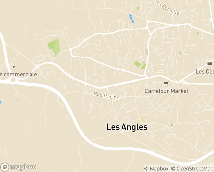 Localisation Résidence Paul Gache - 30133 - Les Angles