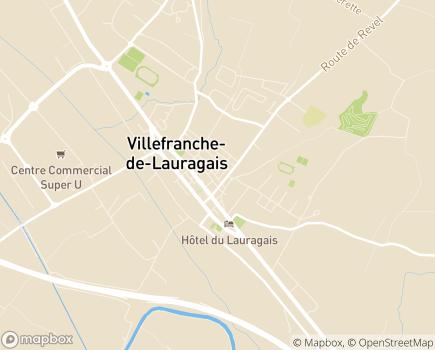 Localisation EHPAD Résidence Maisonneuve - 31290 - Villefranche-de-Lauragais