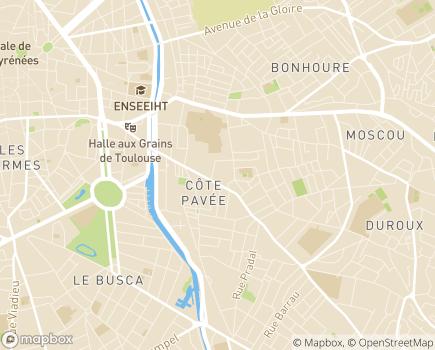 Localisation Résidence Edenis Caroline Baron - 31000 - Toulouse