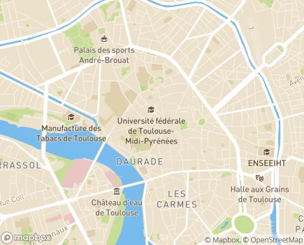 Localisation SSIAD et Centre de Soins Infirmiers (CSI) Capitole Daurade - 31000 - Toulouse