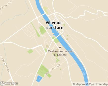 Localisation S.S.I.D.P.A. (Service de Soins Infirmiers à Domicile pour Personnes Agées) - 31340 - Villemur-sur-Tarn