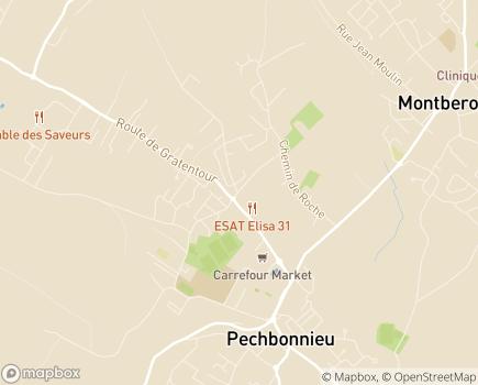 Localisation Centre Alzheimer Marie-Louise EHPAD - 31140 - Pechbonnieu