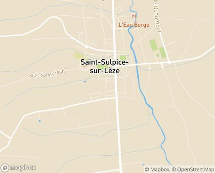 Localisation Korian Coteaux de la Léze - 31410 - Saint-Sulpice-sur-Lèze
