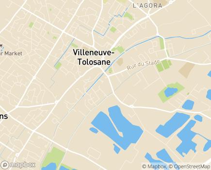 Localisation Institut Médico-Educatif André Bousquairol - 31270 - Villeneuve-Tolosane