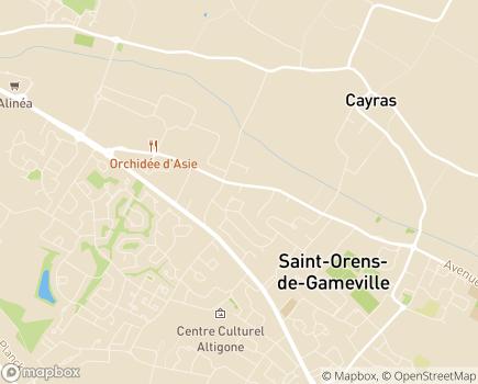 Localisation ASPE2A - Dispositif hébergement - Villa de Saint-Orens - 31650 - Saint-Orens-de-Gameville
