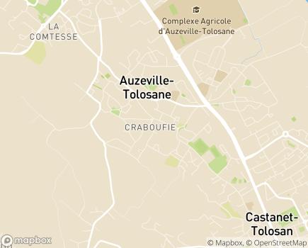 Localisation ASPE2A - Dispositif hébergement - Villa d'Auzeville - 31320 - Auzeville-Tolosane