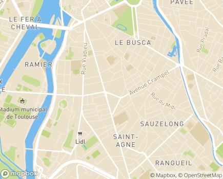 Localisation ANRAS Aide et Protection des Familles - 31030 - Toulouse
