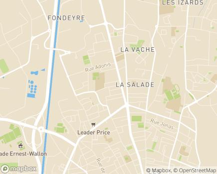 Localisation Institut Médico-Educatif Raymond Sorel - 31200 - Toulouse