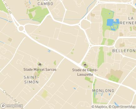 Localisation Institut Médico-Educatif Les Bruyères - 31100 - Toulouse