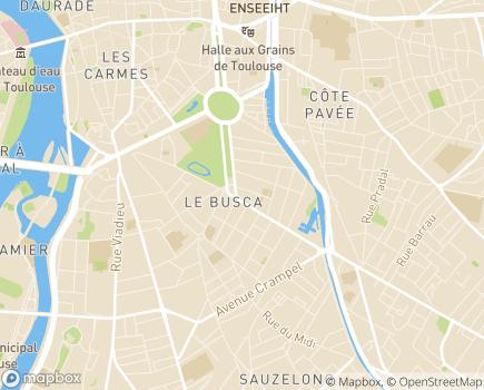 Localisation L'Essor MECS La Grande Allée et Gaillardie - 31400 - Toulouse