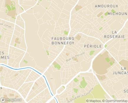 Localisation Maison des Allées CHRS Bonnefoy - 31500 - Toulouse