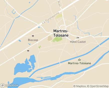 Localisation EHPAD Résidence Saint-Vidian - 31220 - Martres-Tolosane