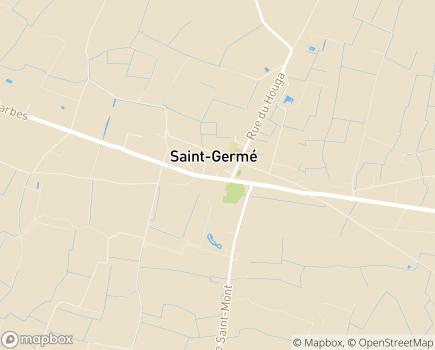 Localisation Maison d'Accueil Spécialisée Hélios - 32400 - Saint-Germé